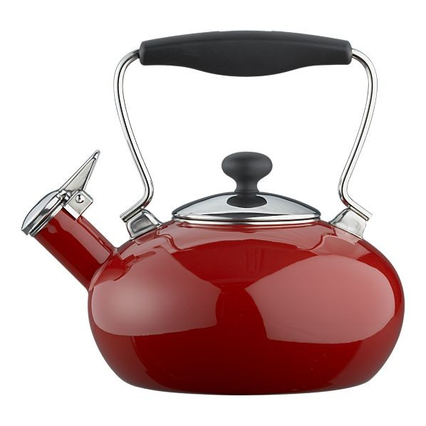 Chantal red bridge tea kettle modern kettles by crate barrel - Chantal teapots ...