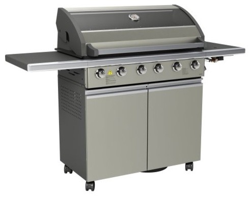 EcoQue Six Burner Champagne Gas Grill contemporary-outdoor-grills
