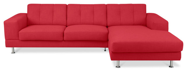 Bayswater Red Sectional Sofa (L) modern sectional sofas