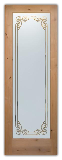 Interior Glass Doors - Frosted Semi Private NAPLES mediterranean-interior-doors