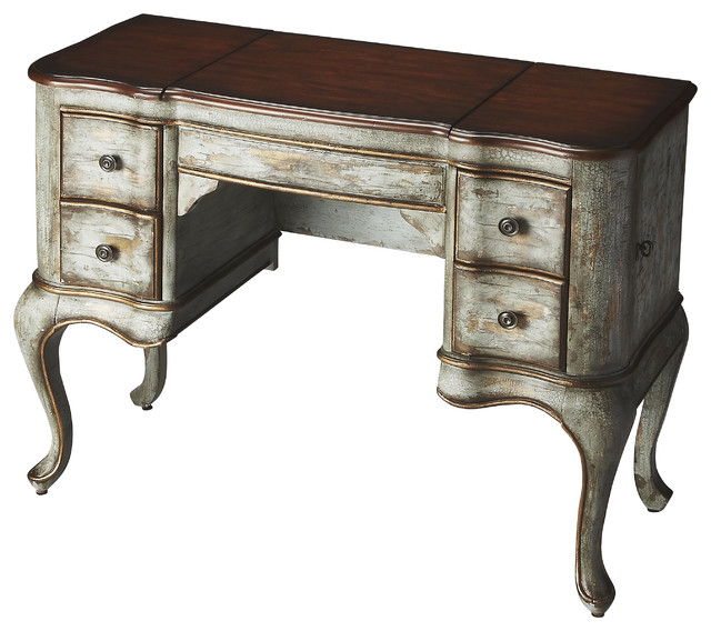 charlotte rustic blue cherry vanity transitional