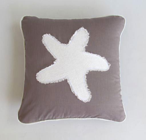 Coastal beach nautical pillows beach-style