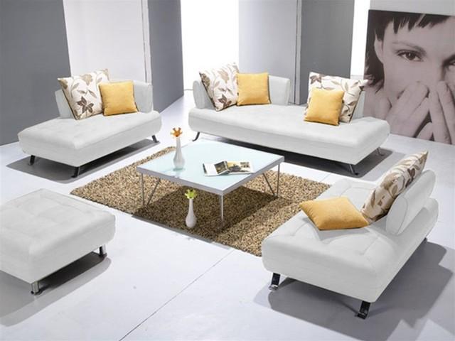 Siena Leather Sofa Set 2072w Modern Living Room