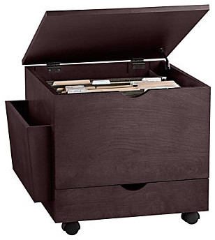File Ottoman Espresso - Contemporary - Filing Cabinets And Carts - by Improvements Catalog