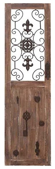 Antique Key Wooden Wall Panel eclectic-artwork
