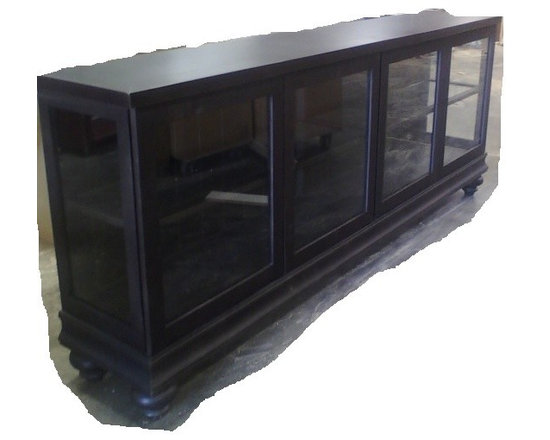 Dining Room / Servers / Buffets / Tables - Freestanding glass sides and front dining buffet