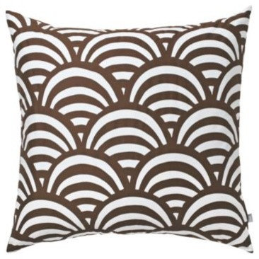 Chocolate Lamu Euro Sham contemporary shams