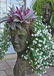 Lady head planter eclectic-indoor-pots-and-planters