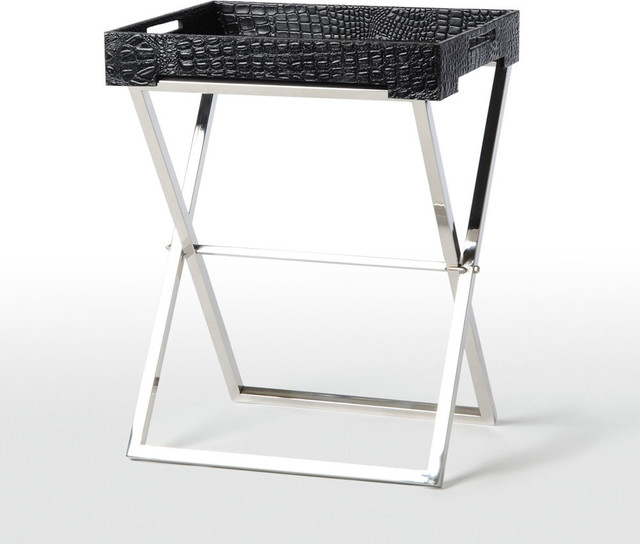 Embossed Leather Tray Table contemporary-side-tables-and-accent-tables