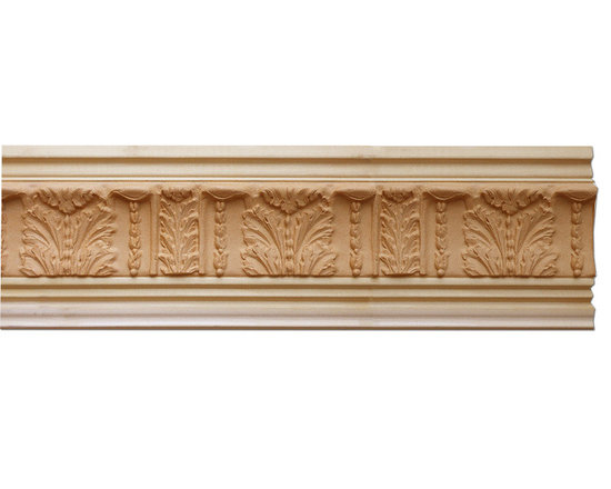 "Inviting Home - Atlanta Crown Molding - wood crown molding 4-1/8""H x 4-1/2""P x 6""F x 8'00""L sold in 8 foot length (3 piece minimum required) Outstanding quality crown molding profile milled from high grade kiln dried solid poplar hardwood. High relief ornamental design crafted using fine grade stainable composition material. Crown molding sold unfinished and can be easily stained painted or glazed. The installation of the wood crown molding should be treated the same manner as you would treat any wood molding: all molding should be kept in a clean and dry environment away from excessive moisture. Acclimate wooden moldings for 5-7 days. When installing wood crown moldings it is recommended to nail molding securely to studs and glue all mitered corners for maximum support."