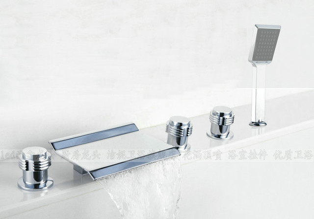 NEW**Tub shower faucet with handshower chrome finish JN88005B modern-showerheads-and-body-sprays