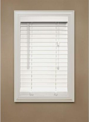 Home Decorators Collection Faux Wood Blinds White Faux Wood Blind 2 In Slats Contemporary