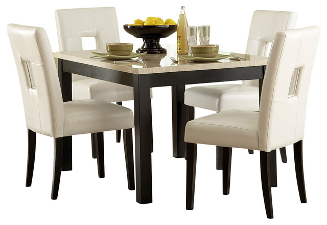 Homelegance Archstone 48 Inch Dining Table with Faux Marble Top - Traditional - Dining Tables ...