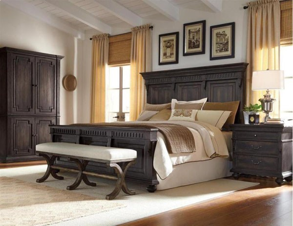 Bedroom Set In Charcoal 210170 1 Traditional Bedroom Furniture Sets