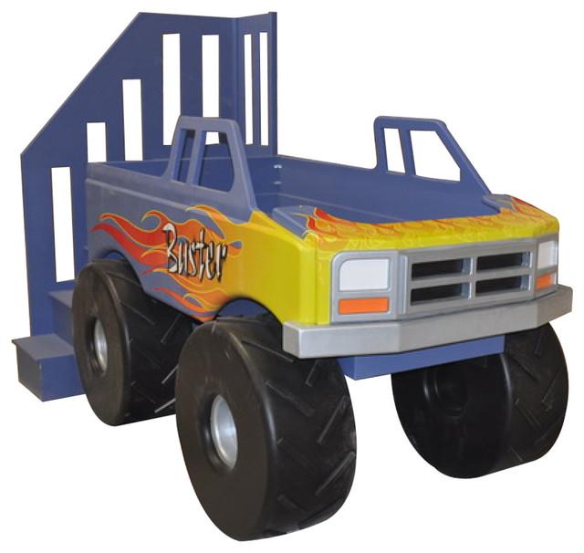 Monster truck loft bed traditional kids houston by sweet retreat kids - Dump truck twin bed ...