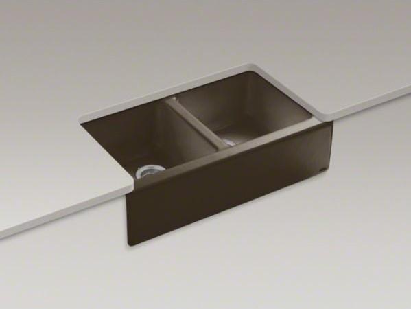 "KOHLER Hawthorne(TM) 33"" x 22-1/8"" x 8-3/4"" apron-front under-mount double-equal contemporary-kitchen-sinks"