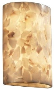 Alabaster Rocks! Cylinder Wall Sconce by Justice Design Group contemporary-wall-lighting
