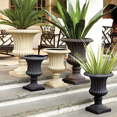 extra large grecian urn traditional outdoor pots and planters by ballard designs. Black Bedroom Furniture Sets. Home Design Ideas