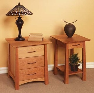 Kyoto 3 Drawer Night Stand And Small Open Night Stand