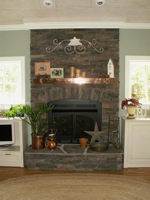 Interior Stone Fireplaces