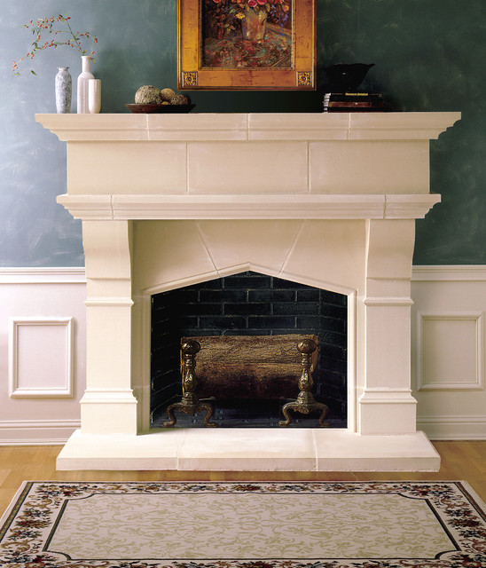 Lexington Cast Stone Fireplace Mantel - Traditional - Indoor Fireplaces - dallas - by Old World ...