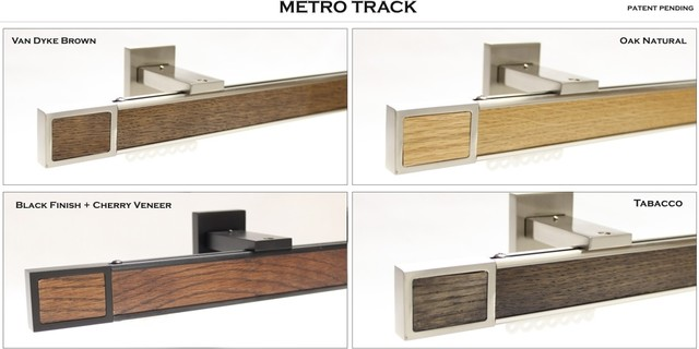 Metro Track contemporary-curtain-rods