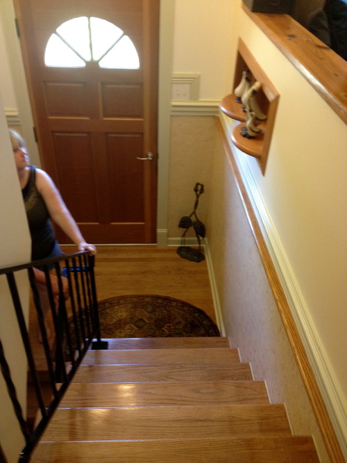 Small Foyer Stairs : Small entryway