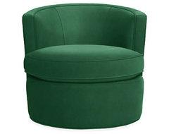 Otis Swivel Chair, Emerald modern-living-room-chairs