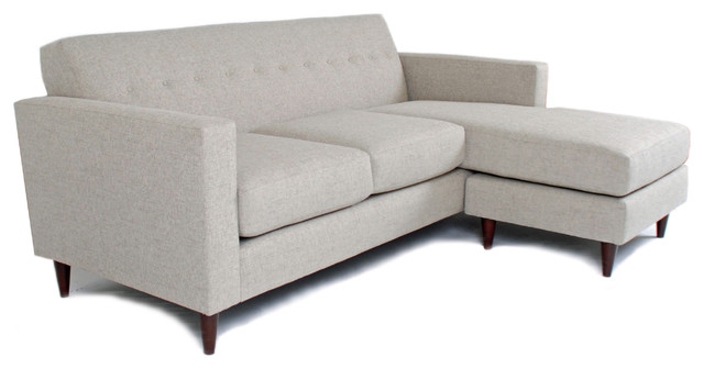 Jackson Flip Sectional, Wheat midcentury-sectional-sofas