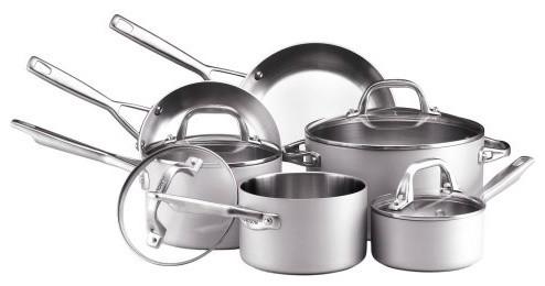 Anolon Chef Clad 10 Piece Cookware Set contemporary-saucepans