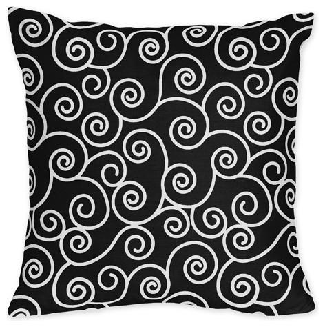 Madison Scroll Print Pillow contemporary-decorative-pillows