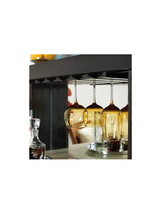 Stem Glass Holder - Display and store your favorite stemware either under a cabinet or in a customized bar by using molding options.