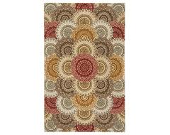 "Nourison 2000 2335 5'6"" x 8'6"" Multicolor Area Rug 15754 traditional-area-rugs"