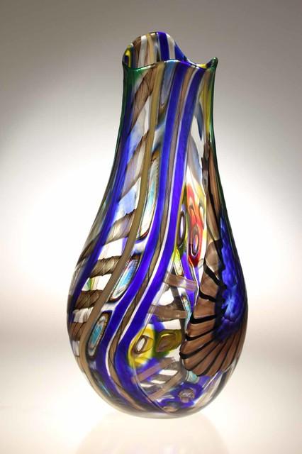 Kitchen lighting ceiling blue tea kitchens - Murano Glass Studio Vases Modern Vases Adelaide By