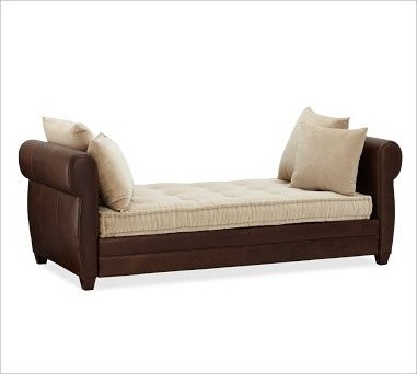 Webster Leather Daybed Traditional Daybeds By