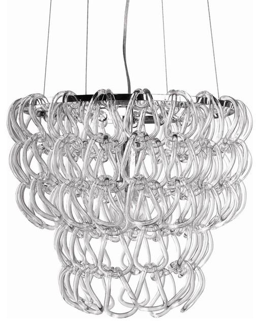Round Glass Chain Chandelier chandeliers