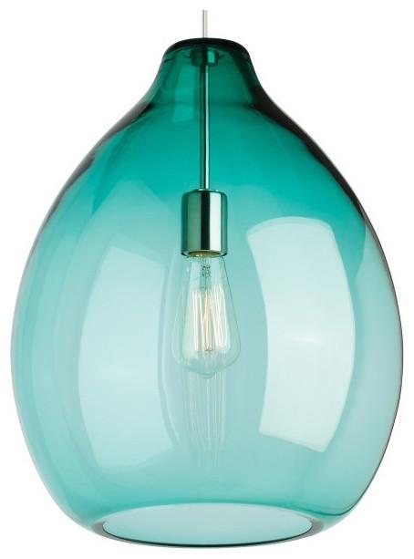 Tech Lighting Quinton LED Line Voltage Pendant Surf Green Contemporary P