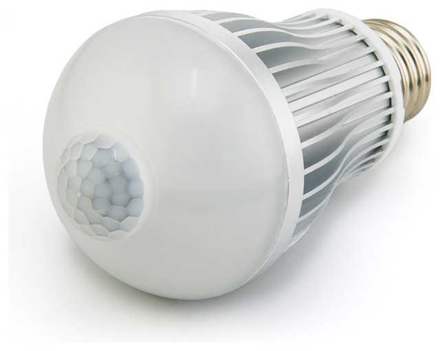 6 watt led a19 globe bulb with motion sensor contemporary. Black Bedroom Furniture Sets. Home Design Ideas