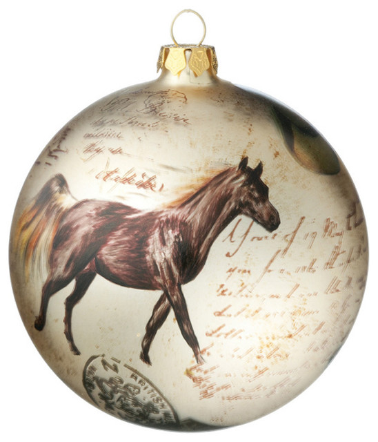Horse & Boots Ornament Ball - rustic - holiday decorations ...
