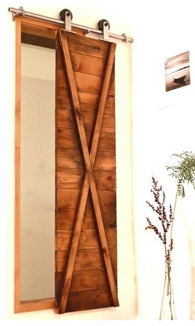 True x barn door shutter modern window treatments for Barn door window covering