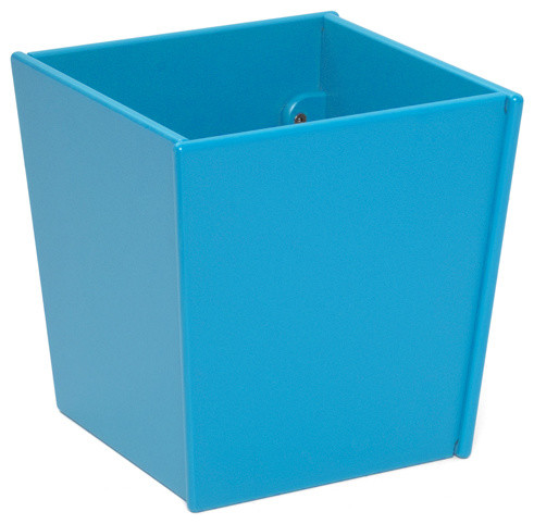 Loll designs sky blue taper bin and planter modern indoor for Loll planters