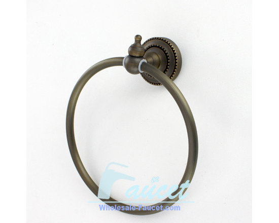 Antique Brass Bathroom Towel Ring - Bath accessories add the finishing touch to your bathroom. This item's proximity to the sink and faucet makes it an important visual element in the bath. Not only does it keep hand towels handy and decorative towels displayed, it's the starting point for pulling the design motif from the lavatory across the rest of the room.