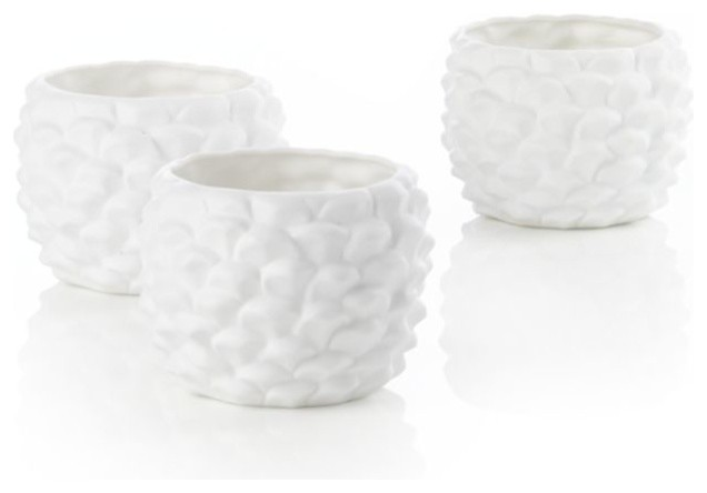 Set of Pinecone Candleholders contemporary-candles-and-candle-holders