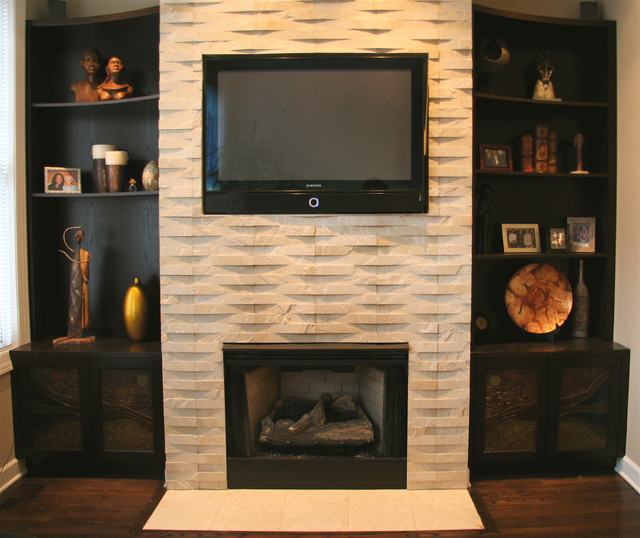 Fireplace family-room
