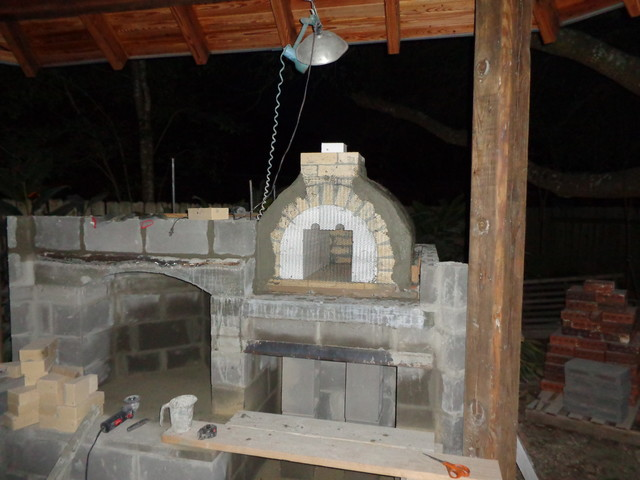 The Hammer Family Wood Fired Pizza Oven And Fireplace Combo In Louisiana Contemporary