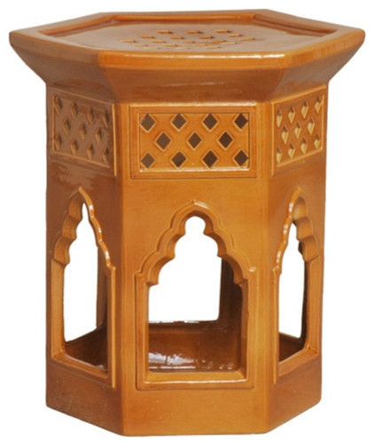 Morac Hex Garden Stool mediterranean-side-tables-and-accent-tables