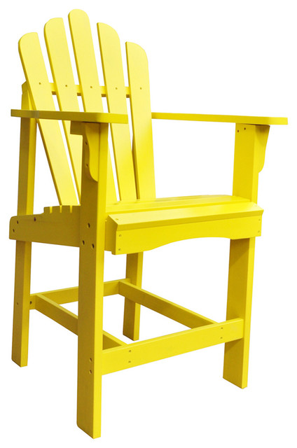 Shine company outdoor patio westport counter high chair for Outdoor furniture yellow
