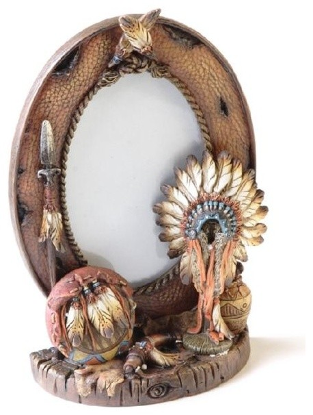 Inch Hide Border with Native American Headdress Photo Frame ...