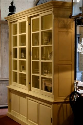Kitchen cabinet with glass sliding doors for Kitchen wall cabinets sliding glass doors