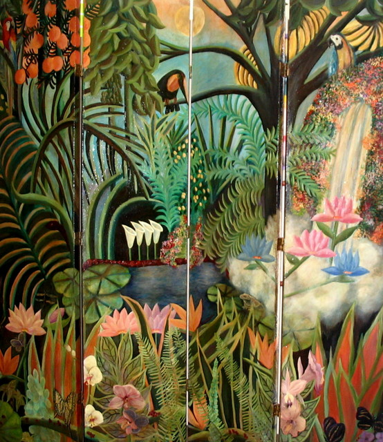 Jungle Room Divider Tropical Screens And Room Dividers